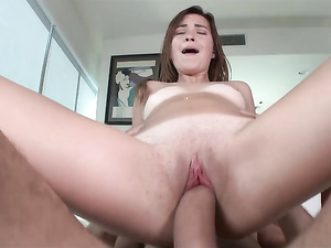 Shaved And Flexible Babe Fucked By His Big Cock