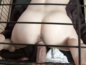Caged Sub Girl Fucked By Her Big Cock Master