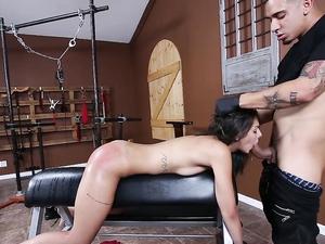 Rough BDSM Master Fucking A Skinny Latina Chick Hard