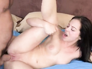 Moaning Teen Takes His Super Thick Cock So Deep