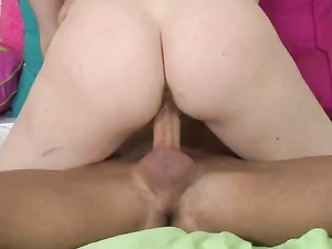 Teen Girl On Top Has A World Class Big Butt