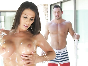 Lady Of The House Blows The Horny Pool Guy