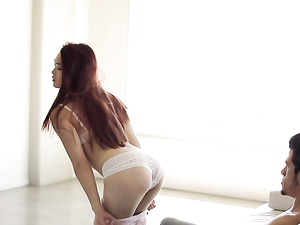 Erotic Asian Tease Girl Takes Big Cock Inside Her