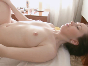 Hairy Teen Snatch Slowly Filled With Hard Cock