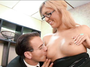 Catching The Secretary Masturbating And Fucking Her