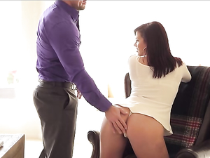 Curvaceous Girl Straddles His Cock And Rides Erotically