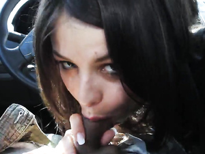 Great Car Blowjob From A Luscious Lips Latina Girl