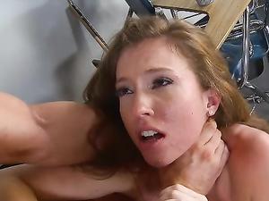 Teacher Gets Rough With The Schoolgirl Slut