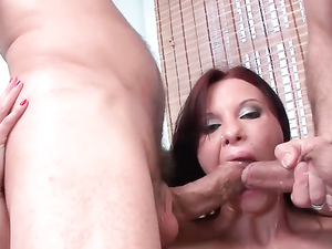 Intensely Beautiful Russian Girl Does Double Anal