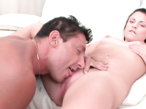 Older Guy Eats Out Her Very Tasty Teen Pussy