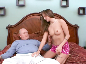 Grandpa Gets Laid With A Slutty College Girl