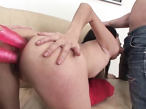 Double Anal Delight For A Slutty Asian Girl