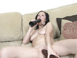 Cute Babe Stuffing Her Teen Pussy With Toys