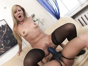 Lesbian Anal Ride On A Massive Strapon Cock