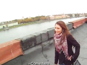Fucking A Cutie Up On The Rooftop