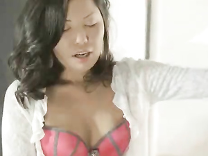 Worshiping Her Tight Asian Pussy From His Knees