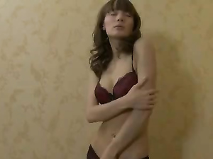 Breathtaking Lean Teen Body In A Striptease Scene