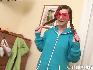 Braided Pigtails Are Adorable On A Masturbating Teen