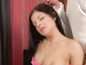 Sexy Teenage Pussy Rides Big Cock Erotically