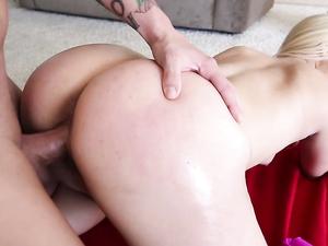 Beautiful Bubble Butt On A Dirty Blonde Slut